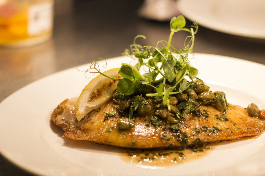 Pan Fried Local Skate Wing with Caper Nut Brown Butter
